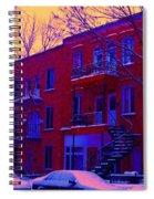 Brownstones In Winter 6 Spiral Notebook