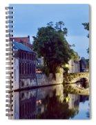 Brudges Canal Bridge Spiral Notebook