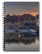 Bruges Canal Dawn Spiral Notebook