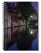 Bruges Canal Near Blind Donkey Alley  Spiral Notebook