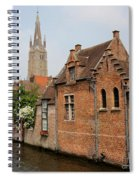 Bruges Houses With Bell Tower Spiral Notebook
