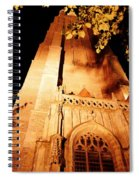 Brugge Cathedral At Night Spiral Notebook