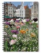Brugge In Spring Spiral Notebook