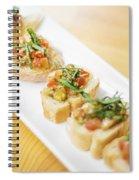 Bruschetta Italian Starter Dish Spiral Notebook