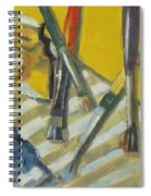 Brushes And Paints For Artists Palette Spiral Notebook