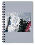 Brushing Winter Away Spiral Notebook