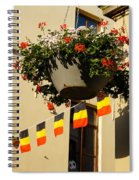 Brussels Belgium - Flowers Flags Football Spiral Notebook