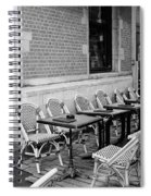 Brussels Cafe In Black And White Spiral Notebook