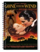 Brussels Griffon Art - Gone With The Wind Movie Poster Spiral Notebook