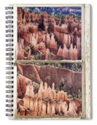Bryce Canyon Utah View Through A White Rustic Window Frame Spiral Notebook
