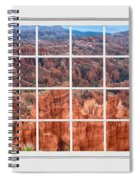 Bryce Canyon White Picture Window View Spiral Notebook