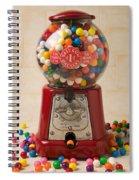 Bubble Gum Machine Spiral Notebook