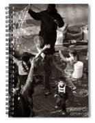 Bubbles And Kids - Central Park Sunday Spiral Notebook
