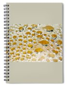 Bubbles Of Steam Amber Spiral Notebook