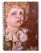 Bubbles Pastel Portrait Spiral Notebook