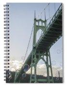 Bubbly St.johns Bridge Spiral Notebook