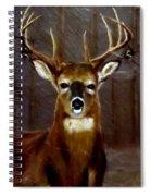 Buck On Slate  Spiral Notebook