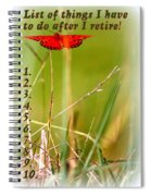Bucket List - Blank List Spiral Notebook