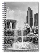 Buckingham Fountain - 1 Bw Spiral Notebook