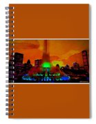 Buckingham Fountain Fantasy Chicago Il Spiral Notebook