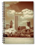 Buckingham Fountain In Chicago Spiral Notebook