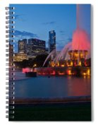 Buckingham Fountain Light Show Spiral Notebook