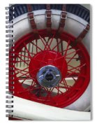 Buckled Wheel Spiral Notebook