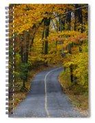 Bucks County Road In Autumn Spiral Notebook