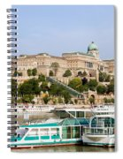 Buda Castle And Boats On Danube River Spiral Notebook