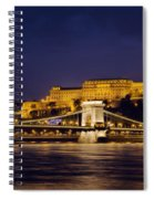Buda Castle And Chain Bridge Spiral Notebook
