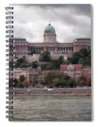 Buda Castle Facade Spiral Notebook