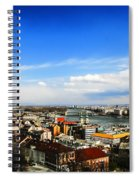 Budapest And Blue Danube Spiral Notebook