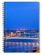 Budapest At Dusk Spiral Notebook