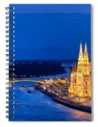 Budapest By Night Spiral Notebook