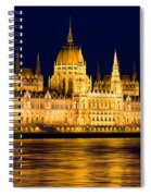 Budapest Parliament At Night Spiral Notebook