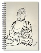 Buddha In Black And White Spiral Notebook