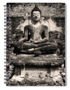 Buddha In Meditation Statue Spiral Notebook
