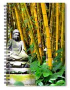 Buddha In The Bamboo Forest Spiral Notebook