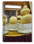Buddha Figures With Thick Layer Of Gold Leaf In Phaung Daw U Pagoda Myanmar Spiral Notebook