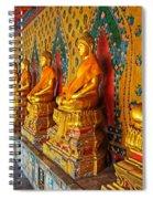 Buddhas At Wat Arun, Bangkok Spiral Notebook
