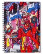 Buddhist Dancers 2 Spiral Notebook