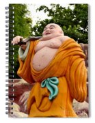 Buddhist Monk On Journey Haw Par Villas Singapore Spiral Notebook