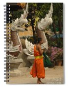 Buddhist Monk Thailand 3 Spiral Notebook