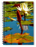 Budding Lilies Spiral Notebook