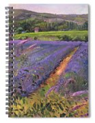 Buddleia And Lavender Field Montclus Spiral Notebook