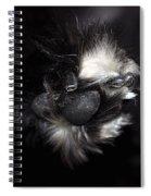Buddys Fluffy Paw Spiral Notebook
