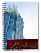Budweiser And Building  Spiral Notebook