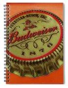 Budweiser Cap Spiral Notebook