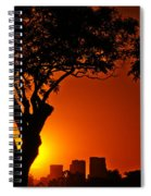 Buenos Aires At Sunset Spiral Notebook