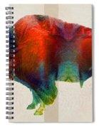 Buffalo Animal Print - Wild Bill - By Sharon Cummings Spiral Notebook